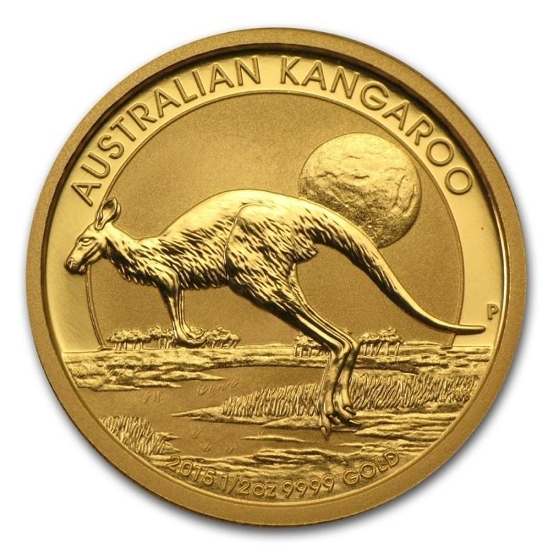 Zlatá investiční mince - Kangaroo 1/2 Oz 2017