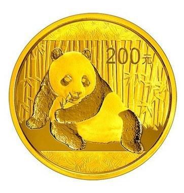 Zlatá investiční mince Panda 15 gr 2017