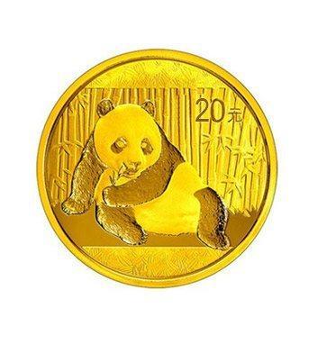 Zlatá investiční mince Panda 1 gr oz 2017