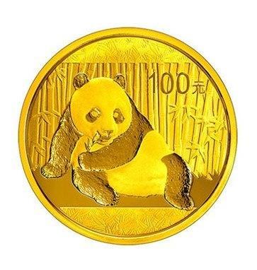 Zlatá investiční mince Panda 8 gr 2017
