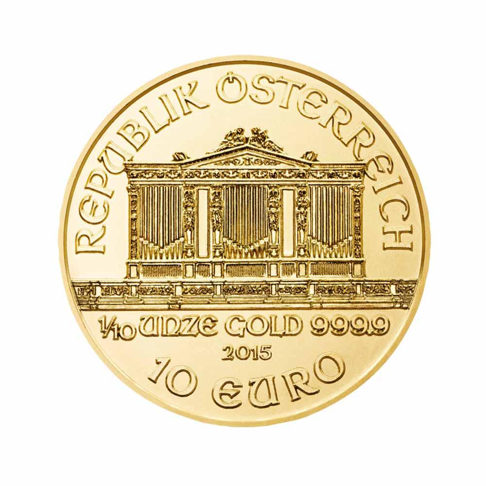 Zlatá investiční mince - Philharmoniker 1/10 Oz 2015