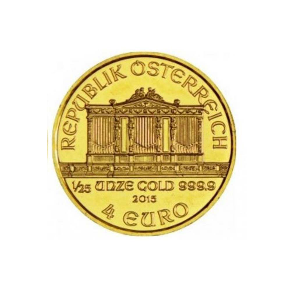 Zlatá investiční mince - Philharmoniker 1/25 Oz 2015