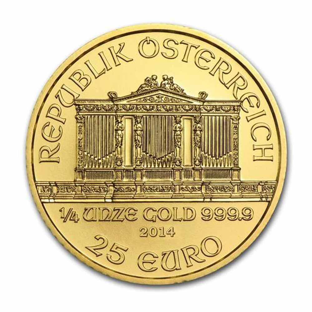 Zlatá investiční mince - Philharmoniker 1/4 Oz 2015