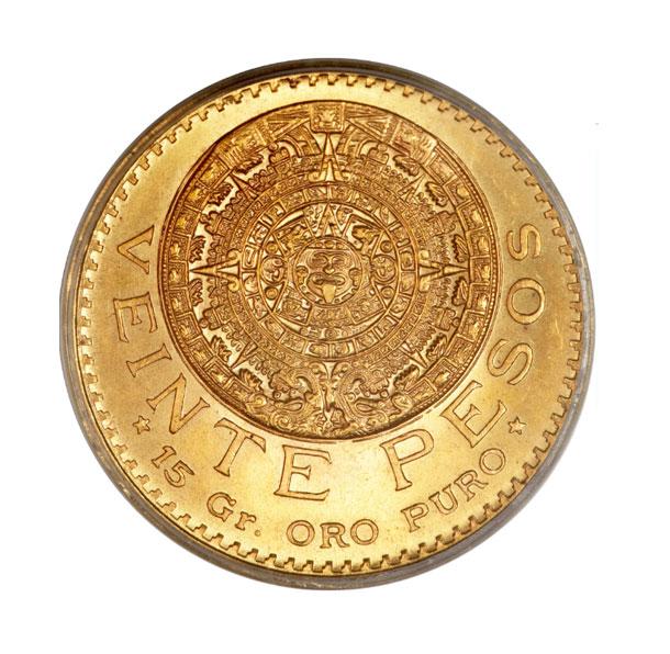 Zlatá investiční mince - Mexiko 20 Peso